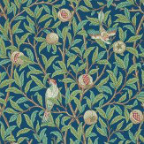 Morris Bird & Pomegranate Green / Blue Wallpaper - Product code: 212540