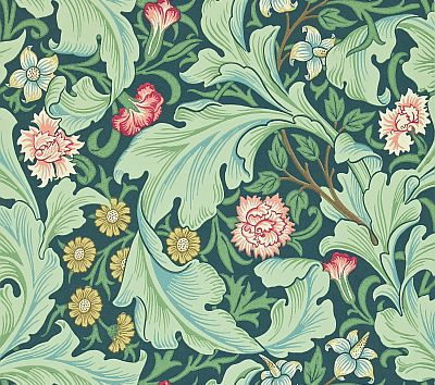 Morris Leicester Green / Multi Wallpaper main image