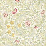 Morris Leicester Pale Green / Multi Wallpaper