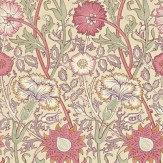 Morris Pink & Rose Pink / Red / Lilac Wallpaper