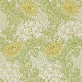 Morris Chrysanthemum Green / Yellow / Cream Wallpaper - Product code: 212545