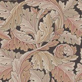 Morris Acanthus Pink / Brown Wallpaper