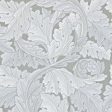 Morris Acanthus Silver Grey Wallpaper