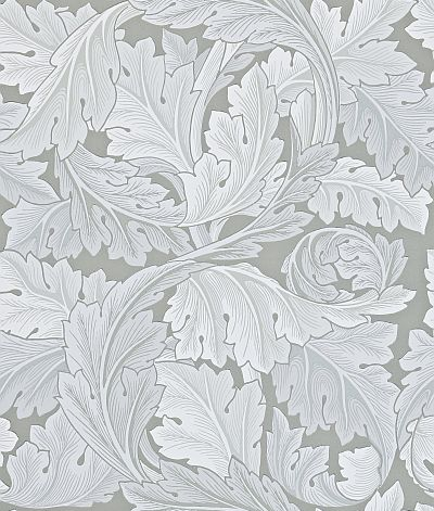 Morris Acanthus Silver Grey Wallpaper main image