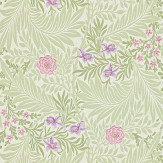 Morris Larkspur Pale Green / Pink / Lilac Wallpaper - Product code: 212555
