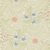 Morris Larkspur Stone / Pink / Blue Wallpaper - Product code: 212557