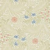 Morris Larkspur Stone / Pink / Blue Wallpaper - Product code: 212557