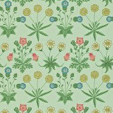 Morris Daisy Green / Multi Wallpaper