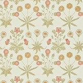 Morris Daisy Yellow / Pink Wallpaper