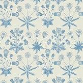Morris Daisy Blue Wallpaper