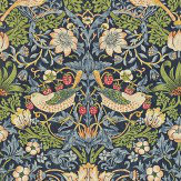 Morris Strawberry Thief Blue / Multi Wallpaper - Product code: 212564