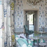 Designers Guild Celeste Porcelain Multi Wallpaper