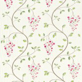 Sanderson Asami Embroidery Pink / Green Fabric - Product code: 232315