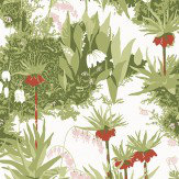 Boråstapeter Scandinavian Designers Red / Green Wallpaper - Product code: 2730