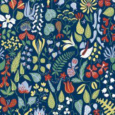 Boråstapeter Scandinavian Designers Navy / Multi Wallpaper - Product code: 2744