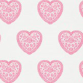 Harlequin Sweet Hearts Cream / Fuchsia Wallpaper