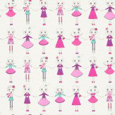 Harlequin Best of Friends Pink / Jade / Purple Wallpaper