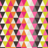 Harlequin Kaleidoscope Pink / Orange / Green / Black Wallpaper