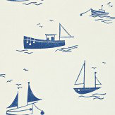 Harlequin Sail Away Cream / Navy Wallpaper - Product code: 110529