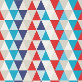 Harlequin Kaleidoscope Blue / Red / Beige Wallpaper
