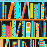 Harlequin All My Books Multi / Black Wallpaper