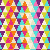 Harlequin Kaleidoscope Pink / Orange / Green / Purple Wallpaper