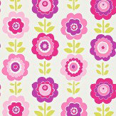 Harlequin Oopsie Daisy Bright Pink / Purple Wallpaper