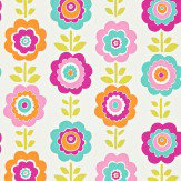 Harlequin Oopsie Daisy Pink / Jade / Orange Wallpaper