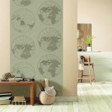 Caselio Mapmonde Wall Panel Wallpaper