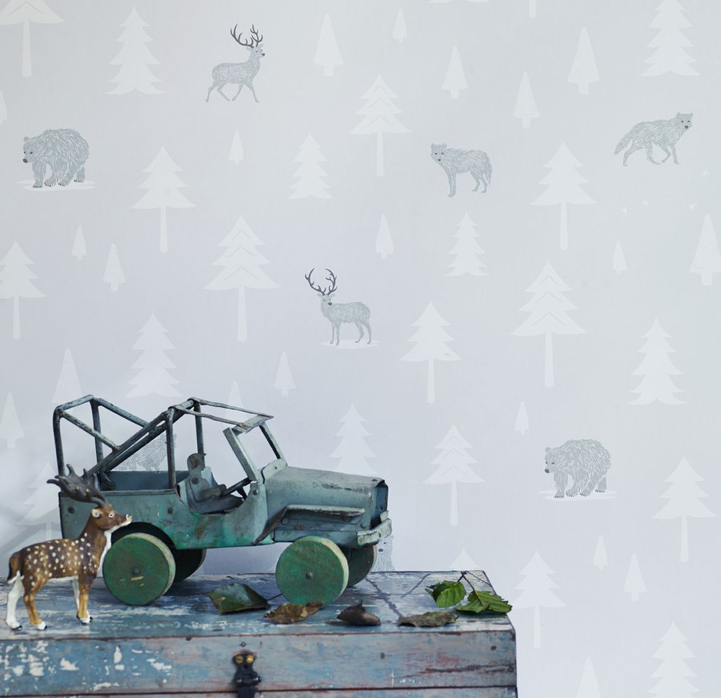 Hibou Home Into The Wild Stone / Arctic Wallpaper - Product code: HH00601
