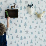 Hibou Home Into The Wild Grey / Green Wallpaper