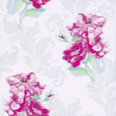 Kandola Shadow Wallpaper  Cream / Pink - Product code: DW1565/01/001