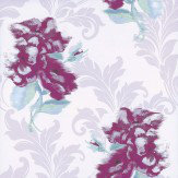 Kandola Shadow Wallpaper Cream / Berry