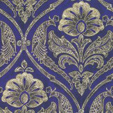 Kandola Paradise Wallpaper Purple / Gold - Product code: DW1569/01/215