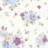 Kandola Julia Wallpaper Pink / Lilac / Blue