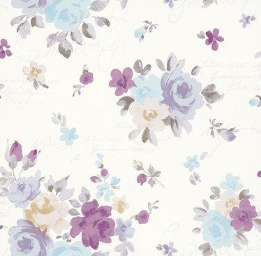 Kandola Julia Wallpaper Pink / Lilac / Blue - Product code: DW1564/02