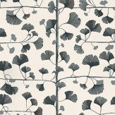 Sandberg Ginkgo Black / Cream Wallpaper