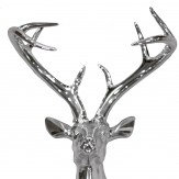 Arthouse Silver Chrome Stag Art