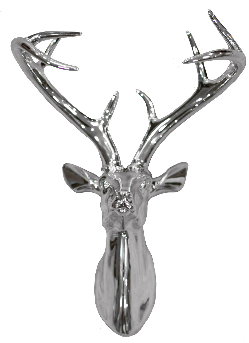 Arthouse Silver Chrome Stag Art - Product code: 008196