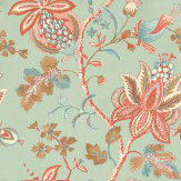 Thibaut Donegal Aqua / Orange / Beige Wallpaper
