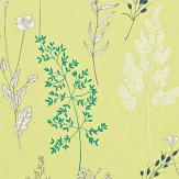 Sanderson Summer Meadow Citrus / Teal Wallpaper