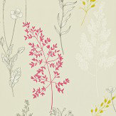 Sanderson Summer Meadow Pink / Linden Wallpaper