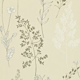 Sanderson Summer Meadow Charcoal / Stone Wallpaper