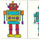 Arthouse Set of 3 robots Art