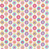 Harlequin Oopsie Daisy Turquoise / Pink / Orange Fabric