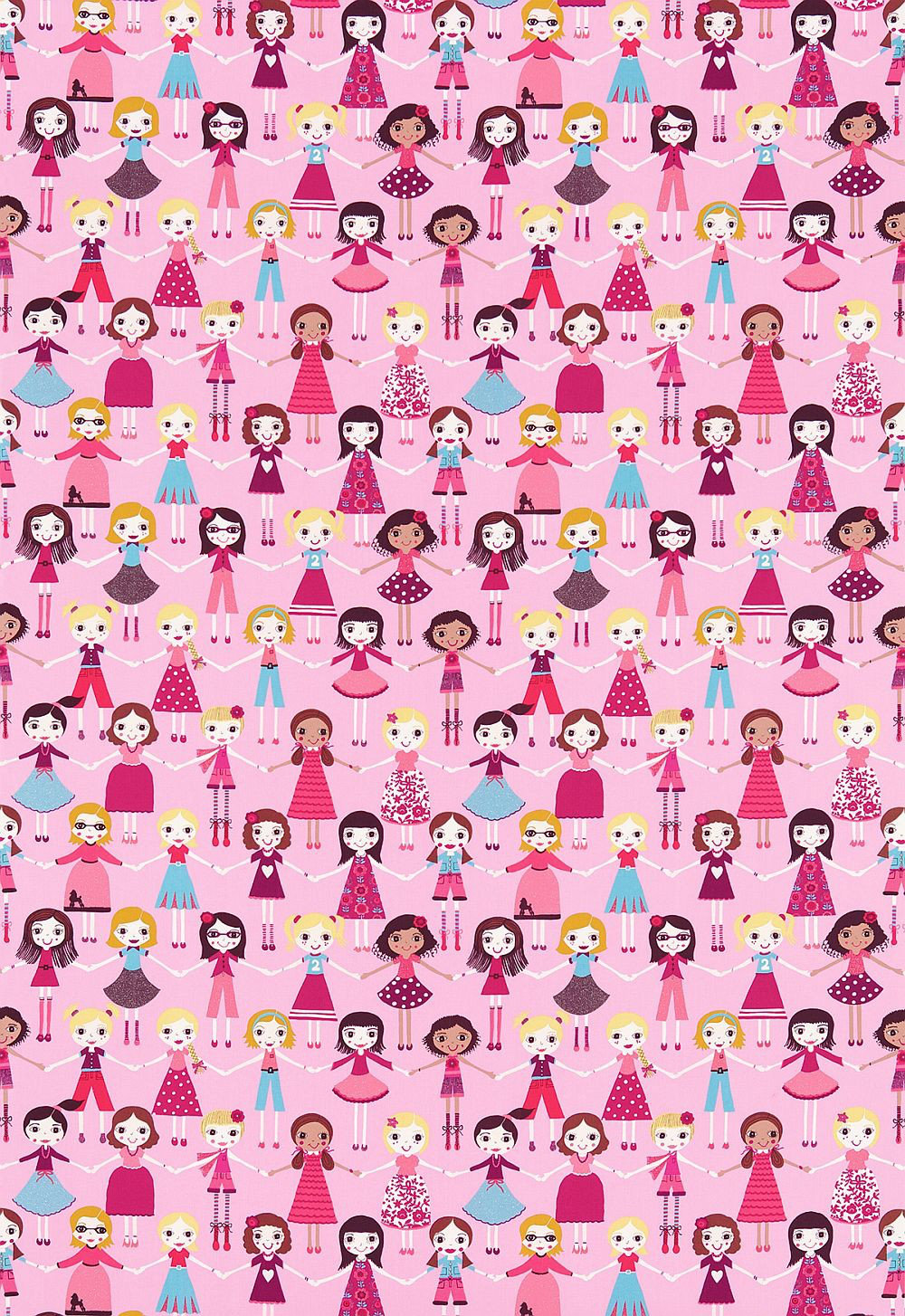 Image of Harlequin Fabric Best of Friends, 120217