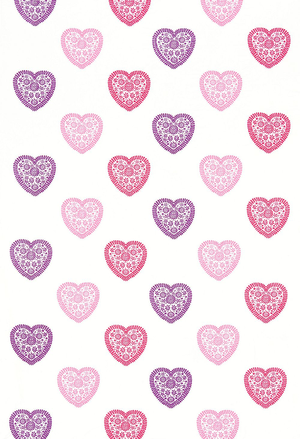 Harlequin Sweet Hearts Pink / Purple Fabric - Product code: 130755