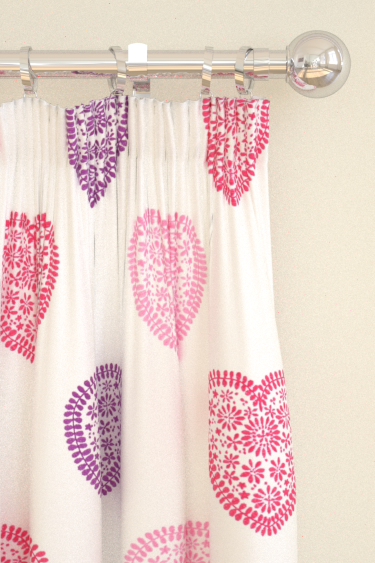 Harlequin Sweet Hearts Pink / Purple Curtains - Product code: 130755