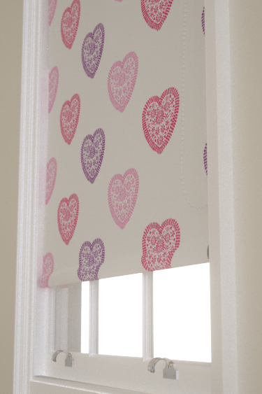 Harlequin Sweet Hearts Pink / Purple Blind - Product code: 130755