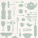 Graduate Collection Airfix Kitchen Duckegg Duck Egg Wallpaper